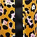 Girls brown leopard print tape side trousers