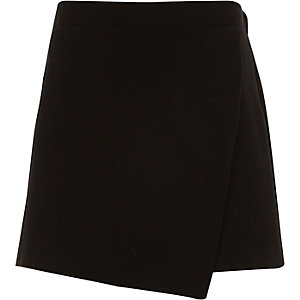 Girls black skort