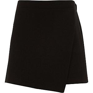 Jupe-culotte noire pour fille