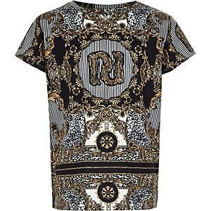 RI 30 – T-shirt imprimé noir pour fille