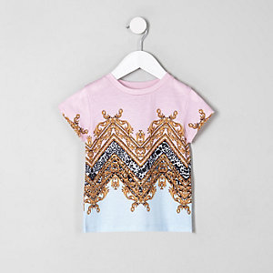 Mini girls pink baroque T-shirt