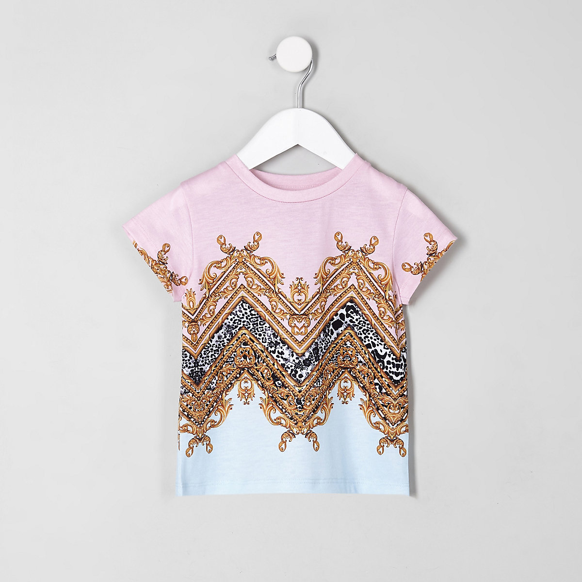 Mini girls pink baroque T-shirt