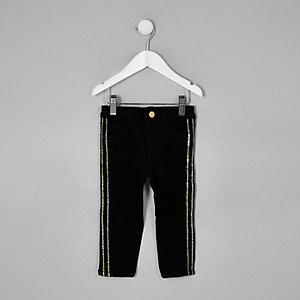RI 30 mini girls black Molly tape jeggings
