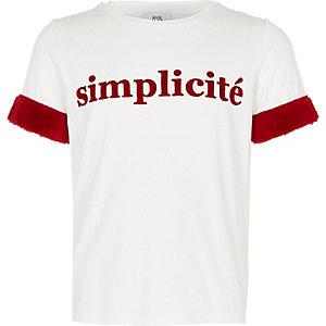 "T-Shirt in Creme ""Simplicite"""