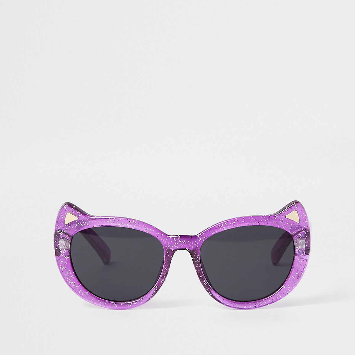 Mini girls purple glitter cat eye sunglasses
