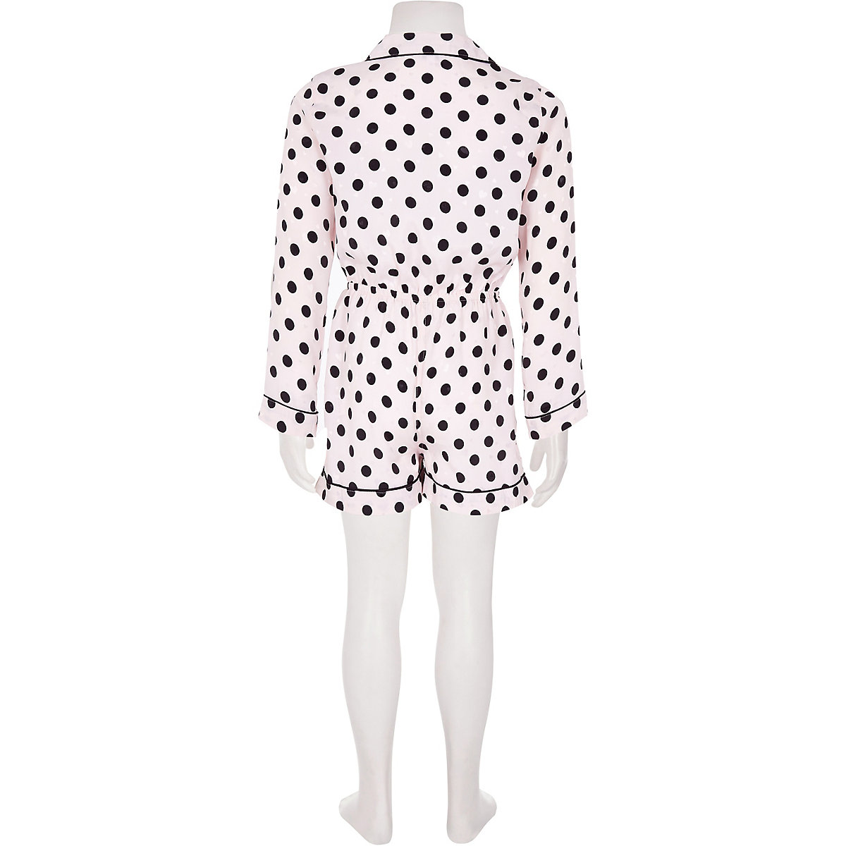 Girls pink polka dot pyjama playsuit - Pyjamas   Underwear - girls 2395cbcfc