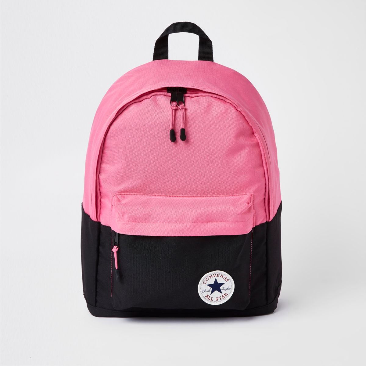 Girls black color block Converse backpack