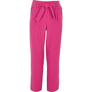 Pantalon rose noué devant pour fille