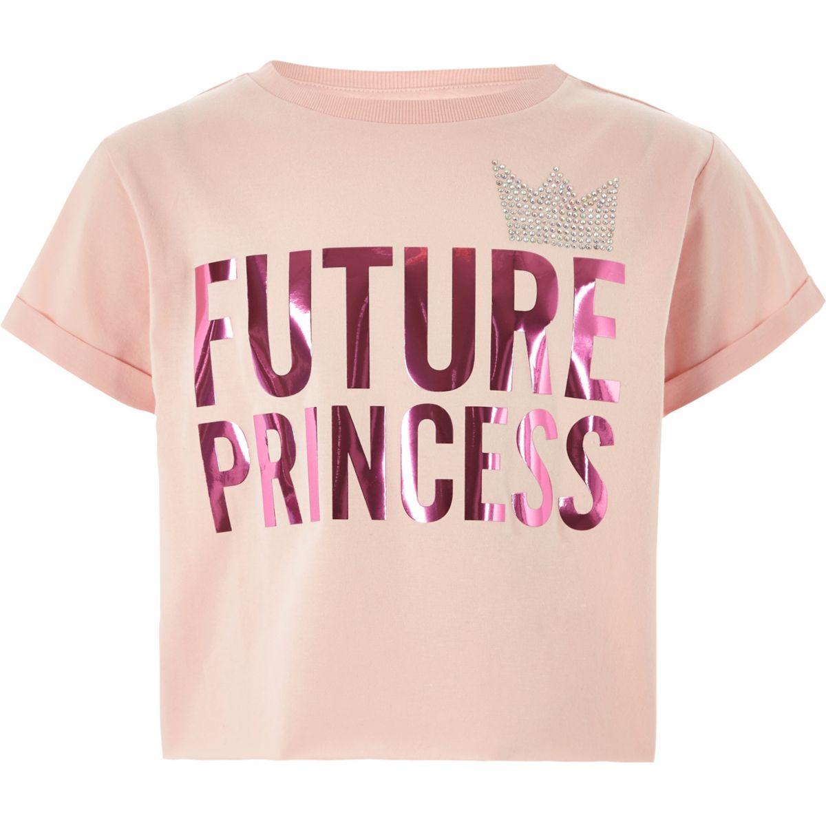 Girls pink 'future princess' T-shirt