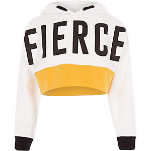Girls RI Active 'fierce' crop sweatshirt