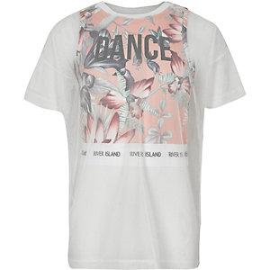 RI Active - Roze T-shirt met laag van mesh voor meisjes