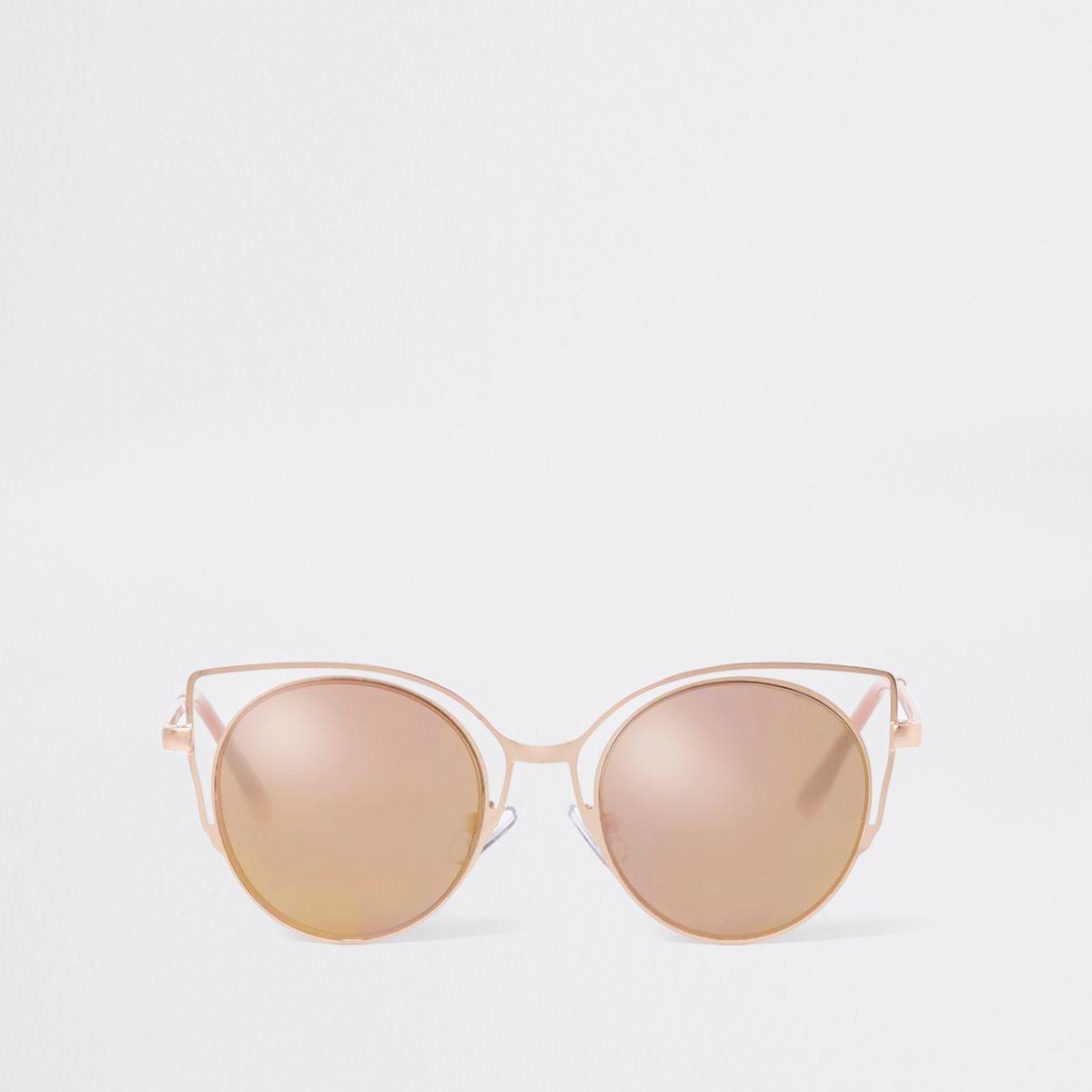 Girls rose gold tone cat eye sunglasses