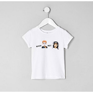 T-shirt « When Harry met Megan » mini fille