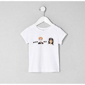 Mini - T-shirt met 'When Harry met Meghan'-print voor meisjes