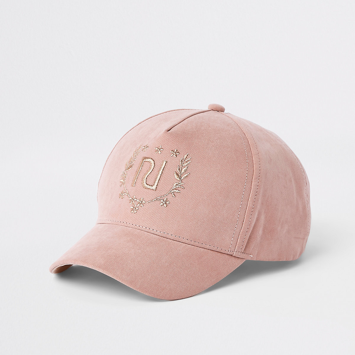 Girls pink RI crest baseball cap