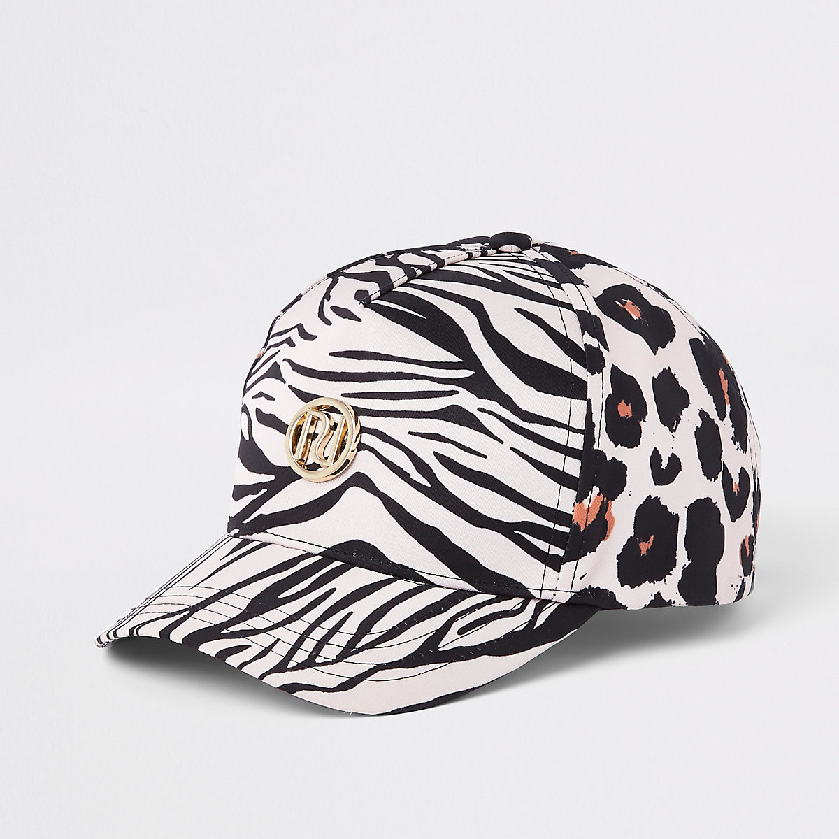 Girls brown leopard print baseball cap