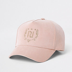 Mini girls pink RI crest cap