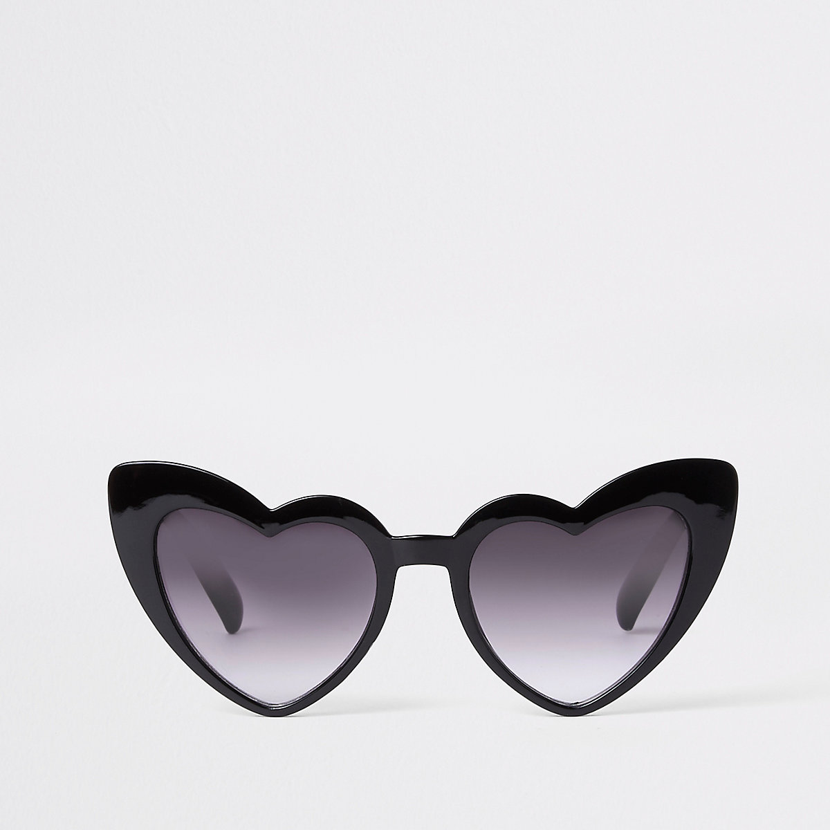 Girls black heart cat eye sunglasses