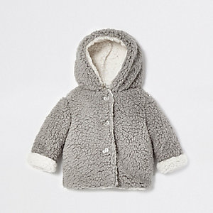 Baby grey fleece fleece jacket