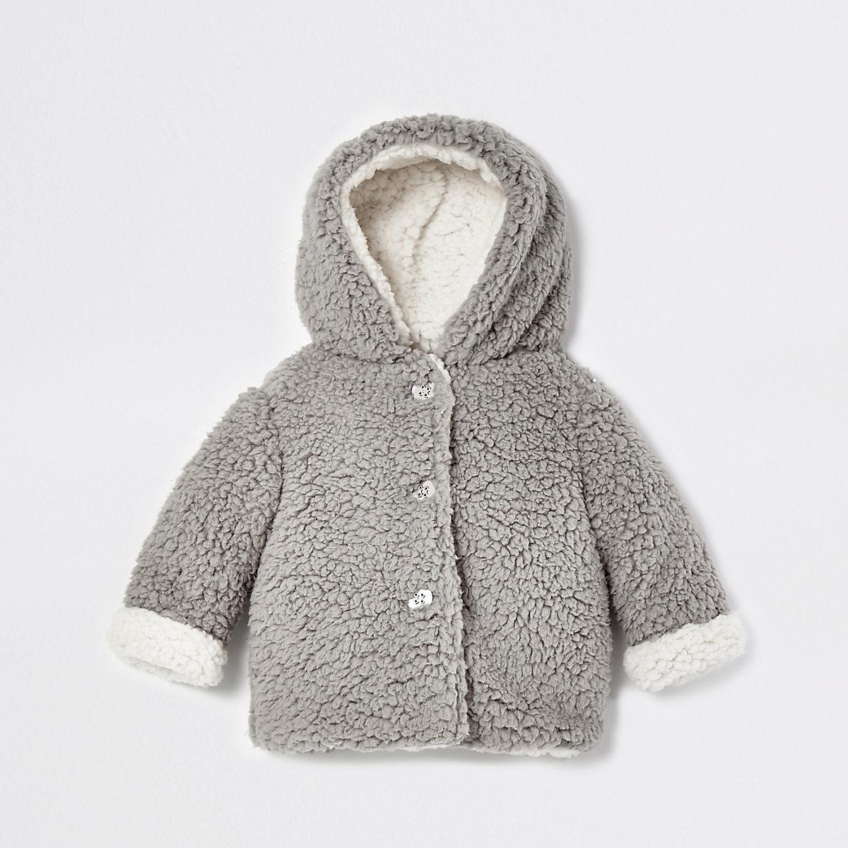 Baby grey fleece fleece jacket
