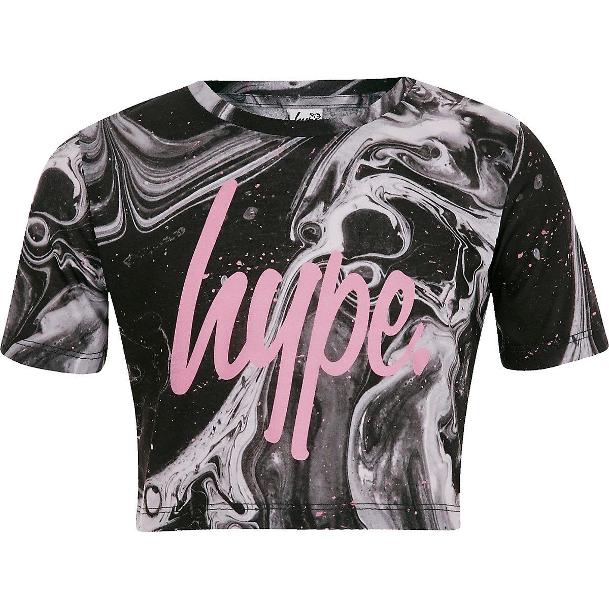 Girls Hype paint splat print crop T-shirt