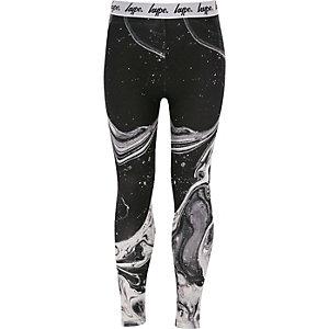 Girls Hype black paint splat print leggings