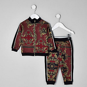 RI 30 mini girls red printed tracksuit outfit