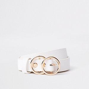 Witte riem met twee cirkels voor meisjes