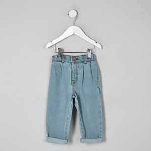 Mini girls blue mom fit jeans