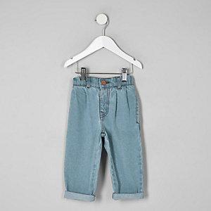 Blaue Mom Fit Jeans