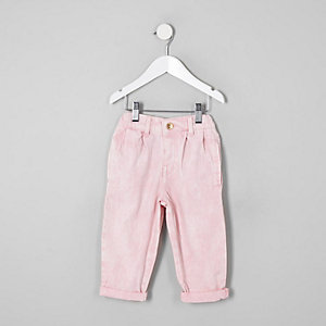 Jean mom rose mini fille