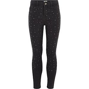 Amelie - Grijze jeans met studs voor meisjes