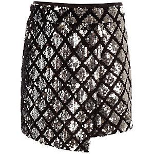 Zilverkleurige skort met pailletten voor meisjes