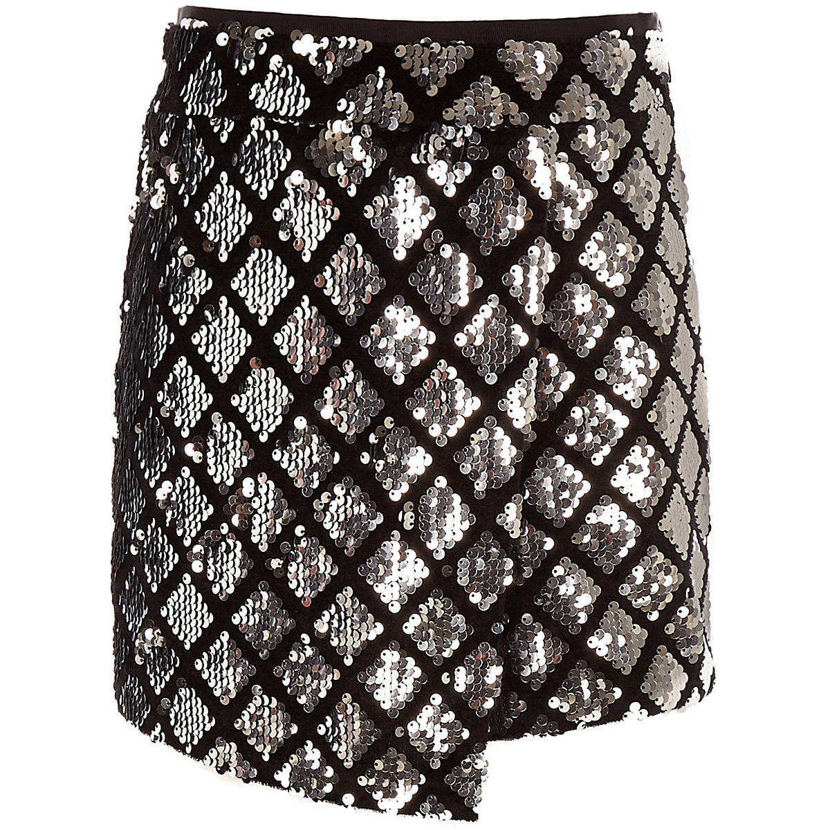 Girls sequin silver skort