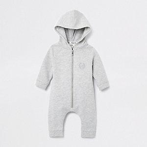 Grijze onesie met engelenvleugelsprint voor baby's
