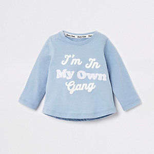 Baby blue 'I'm in my own gang' T-shirt