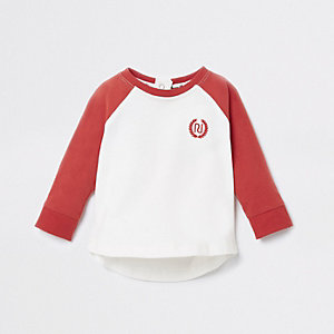 Baby red RI long sleeve T-shirt
