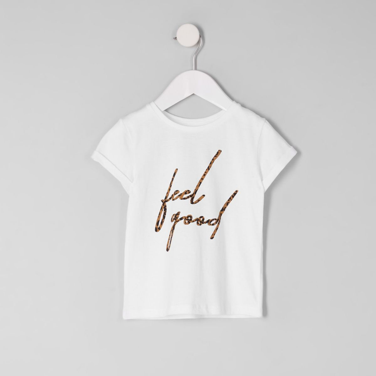 "Weißes T-Shirt ""Feel Good"""