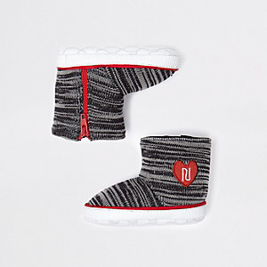 Baby grey knitted RI sock boots