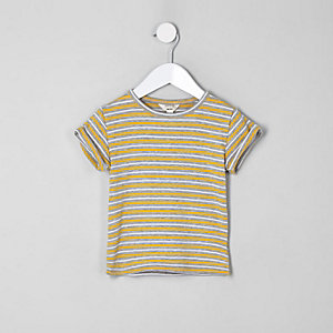 Mini girls yellow stripe T-shirt