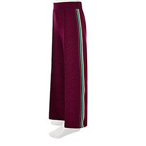 Pantalon large rose à paillettes avec bandes latérales fille