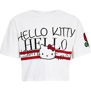 Hello Kitty – Weißes, kurzes T-Shirt