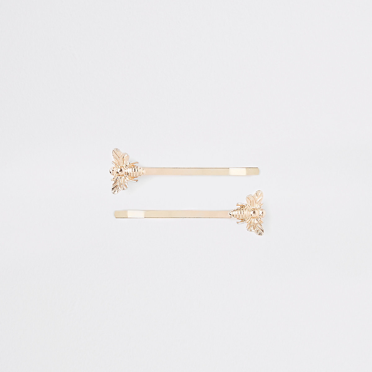 Girls gold tone bee hair slide