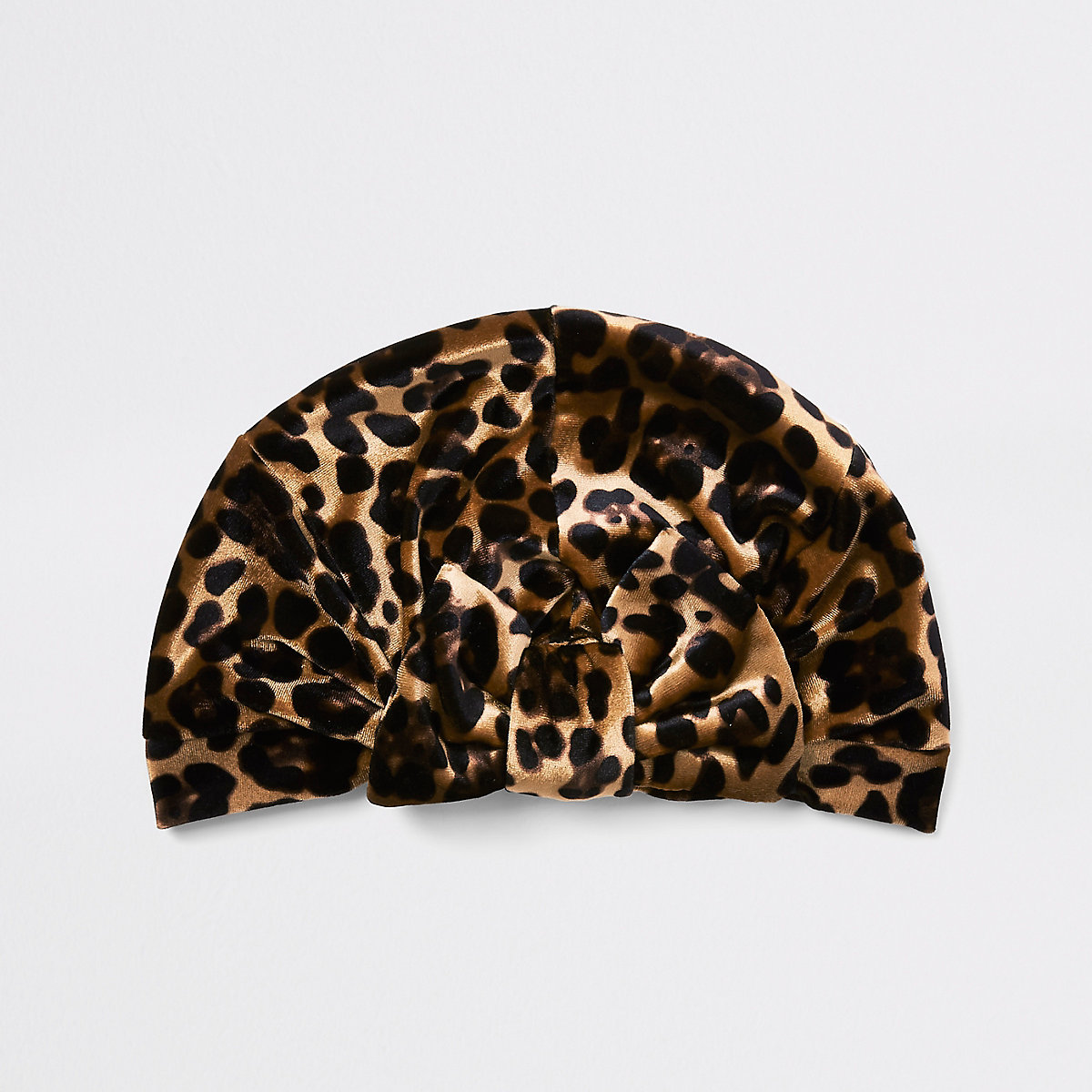 Girls brown leopard print bow turban headband - Hats - Accessories ... 4b0078f20a1b