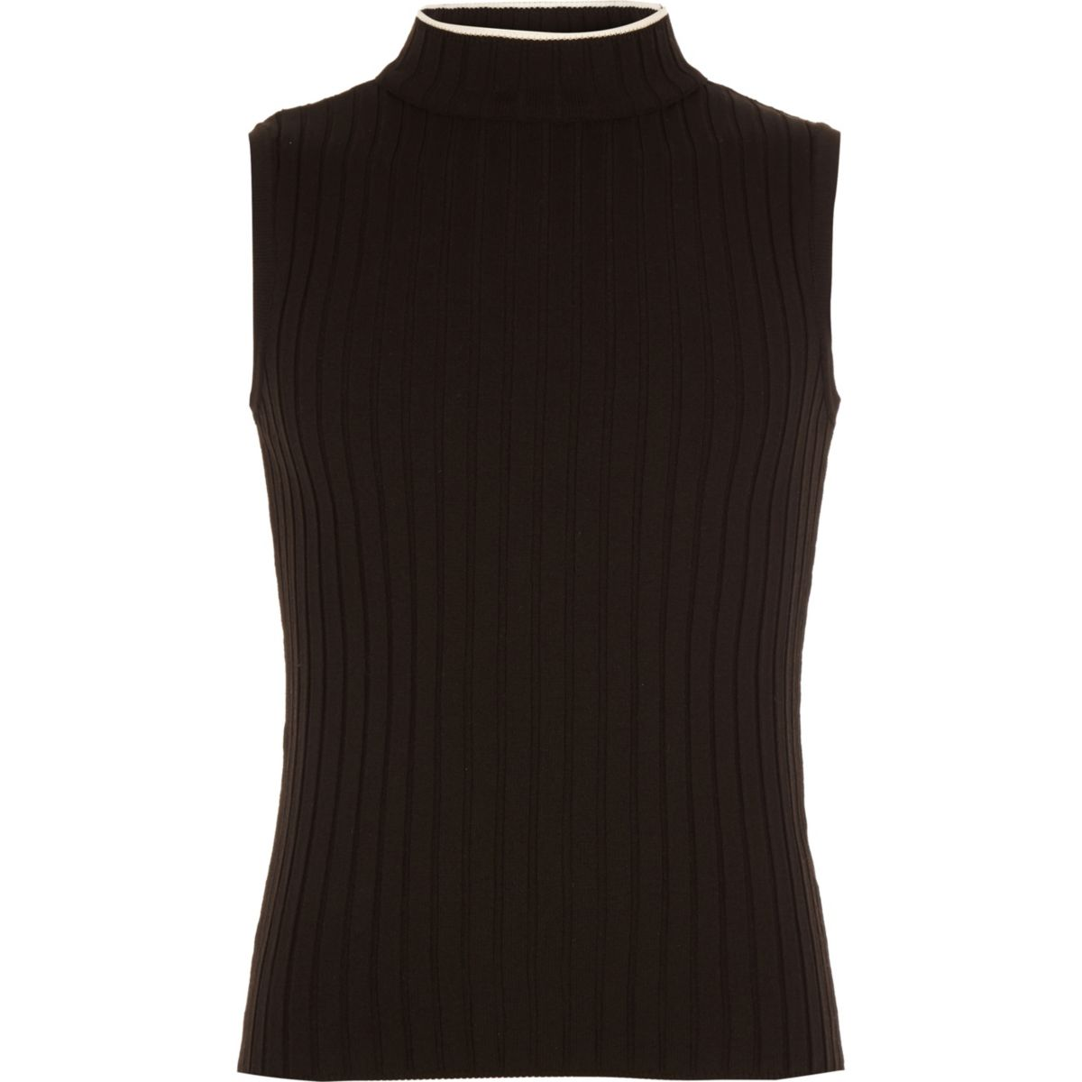 Girls black rib tank top