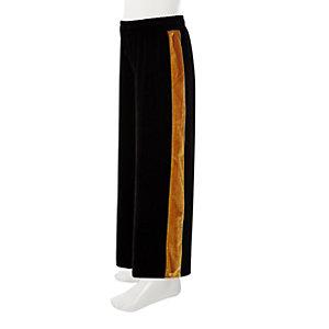 Zwarte fluwelen broek met band en wijde pijpen voor meisjes