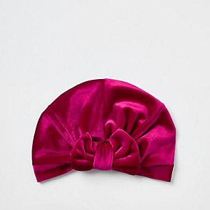 Pinkes Haarband mit Schleife