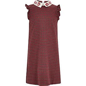 Roze geruite jurk voor meisjes
