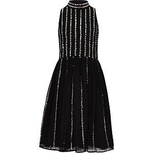 Robe de gala noire à sequins pour fille