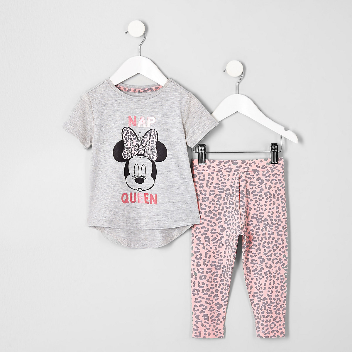 Mini girls pink Minnie Mouse pajama set